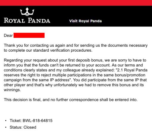 Royal Panda ett Oseriöst Casino